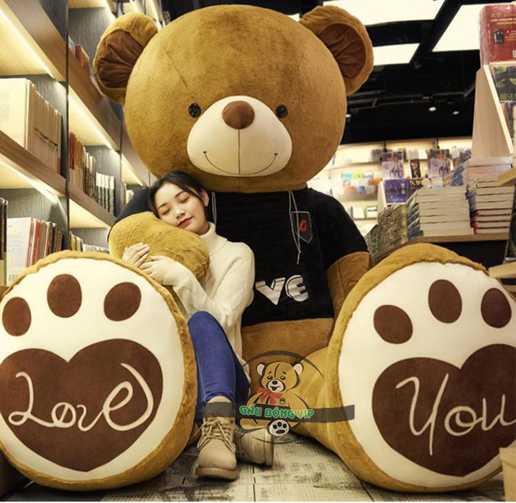 Gấu Teddy Love you áo len